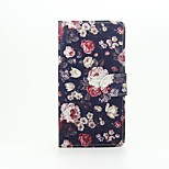Flowers Painted PU Phone Case for Huawei Ascend P9 Lite