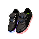 Boys' LED Shoes Outdoor / Athletic / Casual Leatherette Sandals / Fashion Sneakers Black / White