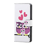 Sweet Owl Family Magnetic PU Leather wallet Flip Stand Case cover for Wiko Lenny 3