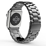 Luxury Stainless Steel Watch band Metal iWatch Strap Unique Design With Double Button Folding Clasp for Apple Watch
