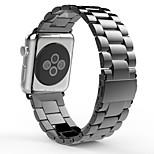 de lujo reloj de acero inoxidable correa de iWatch banda de metal diseño único con doble cierre de botón de plegado para el reloj de
