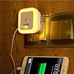 creativa caliente recargable USB sensor de luz blanca en relación con la luz del bebé noche de sueño (color clasificado)