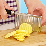 potato wavy edged knife stainless steel plastic handle kitchen gadget vegetable fruit cutting peeler cooking