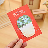 Flowers and Plants Pattern Self-Stick Note(1 PCS Random Color)