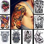 8PCS Women Men Flower Leg Body Art Tattoo Sticker Temporary Horrible Skull Image Tattoo Paint Product