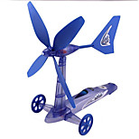 DIY Toy Wind Powered Gadgets For Boy Children Educational ABS  Blue