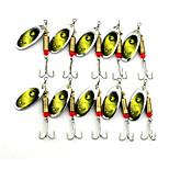 Hengjia 10pcs Deluxe Quality Spoon Metal Fishing Lures 70mm 8.8g Spinner Baits Random Colors