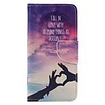 Loving Hand Painted PU Phone Case for Huawei P9/P9lite