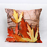 3D Maple Leaf Pattern Velvet Pillowcase Sofa Home Decor Cushion Cover (18*18inch)