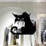 aw9421 Halloween shop glass window stickers wall stickers Halloween cat decoration