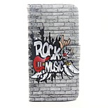 Musical Instruments Pattern PU Leather Full Body Case with Stand and Card Slot for iPhone 6s Plus 6 Plus 6s 6 SE 5s 5