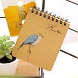 Colored Drawing Kraft Paper Creative Notebook(1 PCS Random Color)