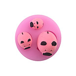 The  DIY3 Pig Cartoon  Style Candy Fondant Cake Molds  For The Kitchen Baking Molds