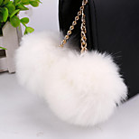 Hot new decorative fashion rabbit hair ball keychain