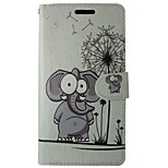 Elephant PU Leather Flip Case with Magnetic Snap and Card for Huawei Ascend P9/P8/P8 LITE