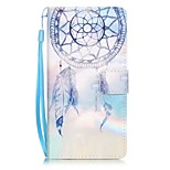 Key Campanula Painting Card Holder Lanyard PU Phone Case for Huawei P9lite