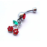 Charms jewelry Crystal / Zircon / Silver Plated Navel & Bell Button Rings Wedding / Daily / Casual 1pc