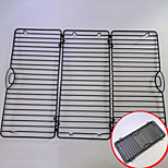Double Foldable Retangle Cake Cooling Rack for Cake Bread Cupcake Baking Tool Nonstick Coated Carbon Steel Black Color