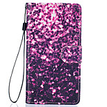 Purple Petals Pattern PU Leather Full Body Case with Stand for Huawei Ascend P9 Lite