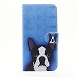 Dog Pattern PU Leather Full Body Case with Stand and Card Slot for iPhone 6s Plus 6 Plus 6s 6 SE 5s 5