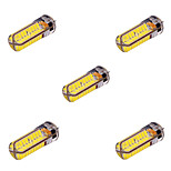 5 pcs YWXLIGHT G4 10W 72 SMD 5730 800-1000 lm Warm White / Cool White T Decorative LED Bi-pin Lights AC/DC 12-24V