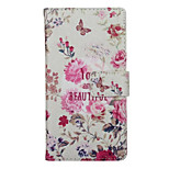 Retro Flower Pattern PU Leather Full Body Cover with Stand for Huawei Ascend P9