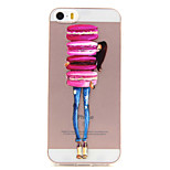 Bread Relief TPU Transparent Soft Phone Case foe iPhone 5/5S/SE