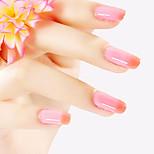ekbas rouge et rose dégradé de couleur colle à ongles 16ml vernis à ongles