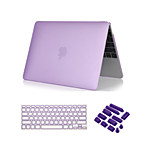 3 in 1 Crystal Clear Soft-Touch  Case with Keyboard Cover and Dust plug for MacBook Pro 13