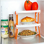 Foldable Multifunctional Microwave Steamer Rack Refrigerator Double Storage Rack Household Holder