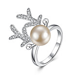 Pearl / Silver Plated Ring Statement Rings Wedding / Party / Daily / Casual 1pc