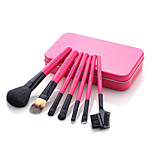 7PCS Makeup Brushes Set / Eyeshadow Brush / Lip Brush / Eyelash Comb (Flat) / Powder Brush / Foundation Brush