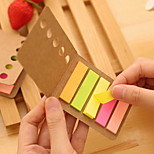 Kraft Paper Cover Colorful Stripe Self-Stick Notes(1 PCS)