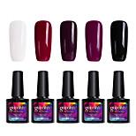 Modelones 5Pcs Gelpolish Soak Off UV Gel Polish Nail Care Shining Color Gel Varnish C104