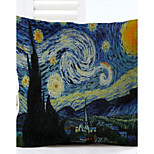 Van Gogh Star Pattern Linen Pillowcase Sofa Home Decor Cushion Cover (18*18inch)
