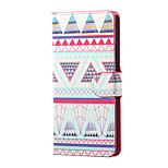 Triangles Pattern Magnetic PU Leather wallet Flip Stand Case cover for Wiko Lenny 3