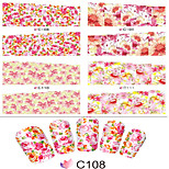 1pcs  Nail Art Water Transfer Stickers Fashion Colorful Flower  Image C108-115