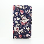 Flowers Patter PU Leather Full Body Case with Stand for Wiko Lenny2