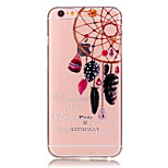 Transparent Colored Campanula Pattern TPU Soft Case Phone Case For iPhone 6/6 Plus/6S/6S Plus