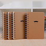 1PC Cute Creative Stationery Notebook Diary Beard Notepad Students School Notebook(Style random)