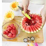 2in1 Stainless Steel Fruit Balls Corrugated Carve Patterns Knife Random Color