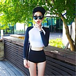 Women Diving Suit UV Swimsuit Conjoined Sun-protective Swimwear Jellyfish Long-sleeve Wetsuit Suits=Top+Pants