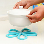Plum Flower Form the Hot Insulation Pad Antiskid Table PVC Pot Pad Random Color