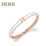 18k Gold Crystal H Letter Bracelet Bangle Jewelry for Lady