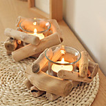 Wooden Candlesticks Creative Personality Handmade Wood Candlesticks Candlestick Holder Home Decoration