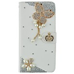 Handmade Bling Diamond Crystal Jewel PU Leather Case With Card Slots and Magnetic Closure For iPhone6/6s/6plus/6splus