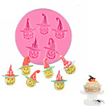 Silicone Cake Mold Halloween Pumpkin Design Fondant Chocolate Mold Cake Decorating Tools Kitchen Accessories