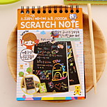 Scratch Paper DIY Drawing Note(1 PCS S)