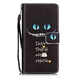 Blue Eyes Painting Card Holder Lanyard PU Phone Case for Huawei P9lite