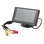 monitor do carro TFT-LCD retrovisor canal 2 av 4,3 polegadas